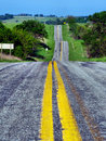 The long and winding road a in northern missouri on a clear sunny summer day love depth of field Stock Image