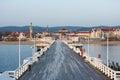 Long wooden pier in Sopot
