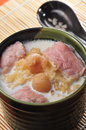 Longan soup chinese cuisine with ham Royalty Free Stock Photos