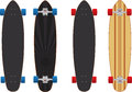 Longboard skateboard two different design Royalty Free Stock Photo