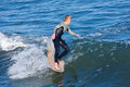 Longboard surfer reilly stone surfing in santa cruz california and quiksilver team rider Stock Image