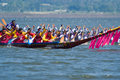 Longboat racing in Pattaya, Thailand Royalty Free Stock Images