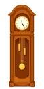 Longcase grandfather clock on white. Vector illustration. Royalty Free Stock Photo