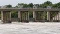 Longhorn Dam releasing turbulent water Royalty Free Stock Photo