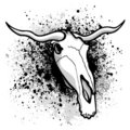 Longhorn paint splatter Royalty Free Stock Photo