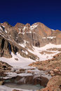 Longs Peak from Chasm Lake Stock Images