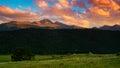 Longs Peak At Sunset Royalty Free Stock Photo