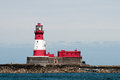 Longstone lighthouse farne islands northumberland uk photo capturing the light beam Stock Photo