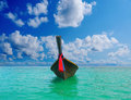 Longtail boat on the sea tropical beach beautiful image andaman thailand Royalty Free Stock Images