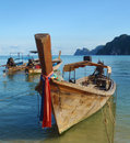 Longtail boat in thailand Royalty Free Stock Images