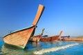 Longtail boats at  Ao Nang beach,  Krabi , Thailand Royalty Free Stock Photo