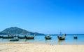 Longtail boats on the beach Naiyang Phuket Thailand Royalty Free Stock Photo
