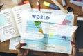 Longtitude Latitude World Cartography Concept Royalty Free Stock Photo
