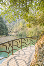 Longwan lake and Path Royalty Free Stock Photo