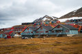 Longyearbyen city svalbard colorful houses in norway Royalty Free Stock Photos