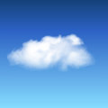 Lonley cloud on a blue sky Stock Images