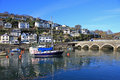 Looe cornwall bridge over the river in Stock Images