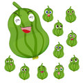 Loofah cartoon with many expressions Royalty Free Stock Photos