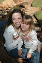 Look Alike Mom and Daughter Royalty Free Stock Photo