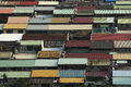 Look down view of a town in taipei taiwan Stock Images