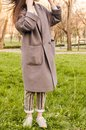 Look with long coat Royalty Free Stock Photo