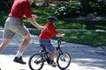 Look Ma no training wheels Royalty Free Stock Photo