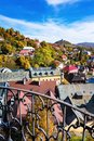 Look-out of balcony of old castle tower in Banska Stiavnica, Slo