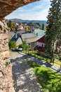 Look-out of old castle walls in Banska Stiavnica, Slovakia, UNES