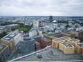 Look over berlin from potsdamer platz germany september panoramic view the tower on covered sky Stock Image