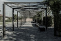 Look through people can visit this pergola in their freetime it is in regionalpark rhein main in hessen germany Royalty Free Stock Image