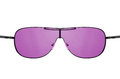Look through pink sunglasses Royalty Free Stock Images