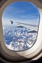 Look through the plane's window Stock Photography