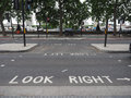 look right, look left sign in London Royalty Free Stock Photo