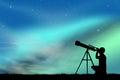 Look in the telescope