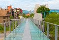 Looking across the glass bridge in downtown chattanooga tennessee Royalty Free Stock Photos