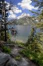Grand Tetons across Jenny lake wyoming USA Royalty Free Stock Photo