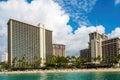Looking back at Waikiki Beach Royalty Free Stock Photo