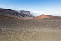 Looking down in the Haleakala Crater Royalty Free Stock Photo