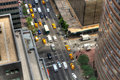 Looking down on Manhattan traffic Royalty Free Stock Photo