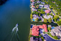 Looking Down Over Mount Bonnell Mansions Austin Texas Royalty Free Stock Photo