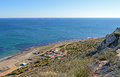 Looking down from santa pola lighthouse a view the towards tabarca island Stock Photos