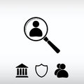 Looking For An Employee Search icon, vector illustration. Flat d