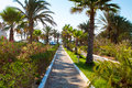 Looking for a hotel resort in sunny summer day tunisia djerba Stock Photo