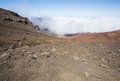 Looking inside the Haleakala Crater Royalty Free Stock Photo