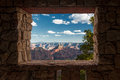 Looking out at the grand canyon through a rock frame Royalty Free Stock Photography