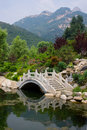 Looking out Mount tai Stock Photography