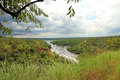 Looking out over murchison falls park national in uganda Royalty Free Stock Image