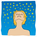 Looking at the stars (vector) Royalty Free Stock Images