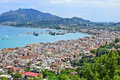 Lookout from bohali in zakynthos the summer greece Royalty Free Stock Photography