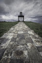 Lookout lighthouse ribadeo in north of spain Stock Images